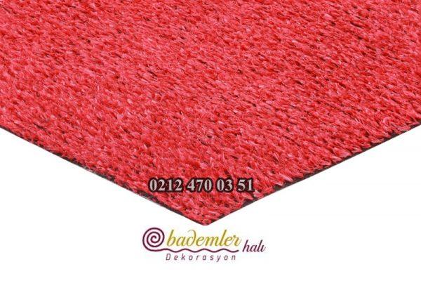 kırmızı çim halı renkli çim halı